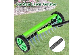 Lawn Roller Outdoor Garden Lawn Aerator With Long Handle Spike Type Grass Roller