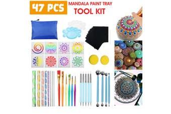 47PCS Tools Set Pen Mandala Brush Set for Children Toddler Toy Paint Tray Ball