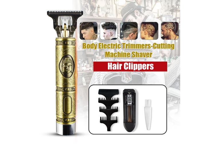 New Electric Clippers Hair Trimmer for Men Metal Hair Clippers with 3 Limit Combs Hair Cutting Machine