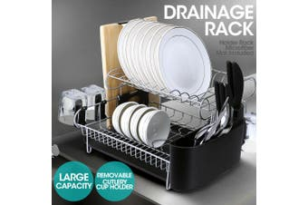 Sink Drain Rack Dish RackDishes 2-Layer Stainless Steel Kitchen Dishes Drying Rack Cup Drain Plate Tray Rack Kitchen Rack Home