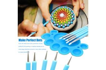 35pcs/Set Mandala Dotting Tools Rock Painting Kits Dot Art Pen Paint Stencil