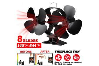 Double Motors Fireplace 8 Blade Heat Powered Stove Fan Log Wood Burner Eco Friendly Quiet Fan Home Efficient Heat Distribution