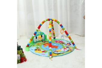 Baby Infant Gym Play Mat Fitness Music Piano Hanging Toy Early Educational Puzzle Carpet Kids Rug