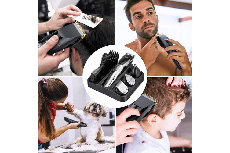 6in1 Mens Shaver Beard Trimmer Hair Clean Clipper Cordless Electric Rechargeable(Hair Clipper Set)