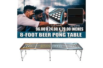 8-Foot Professional Beer Pong Table - Party Pong Splash Edition