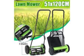 14 inch Compact Hand Push Lawn Mower Courtyard Home Reel Mower No Power Lawnmower