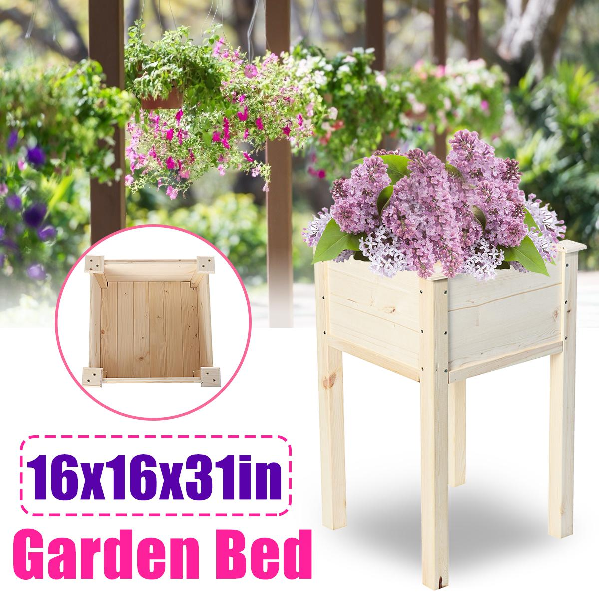 41x41x79cm Original Cedar Elevated Garden Vegetable Bed Raised For Vegetables Elevated Planter Box With Legs Outdoor Patio Flower Herb Container Gardening Kogan Com