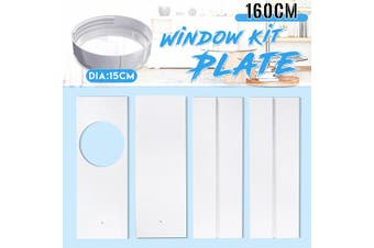 1.6M Window Slide Kit Plate For Portable Air Conditioner NEW(4Pcs Window Plates with Adaptor)