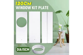 1.2M Window Slide Kit Plate For Portable Air Conditioner(3Pcs Window Plates with Adaptor)