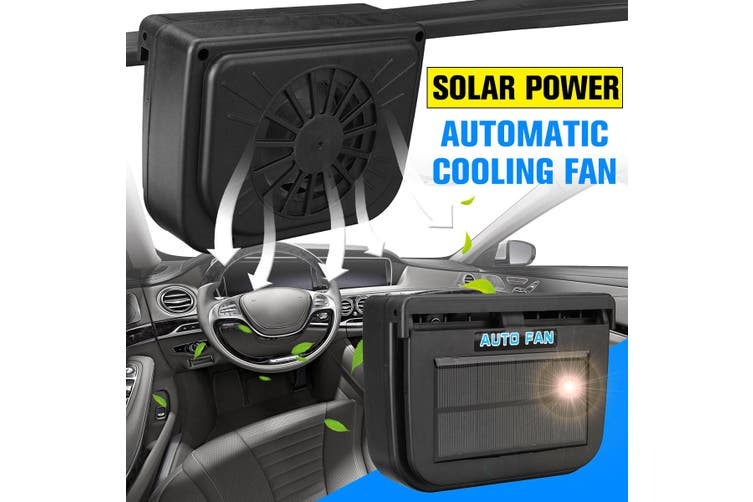 Solar Sun Power Car Auto Fan Air Vent Cool Cooler Ventilation System Radiator Car Window Cooling Fans