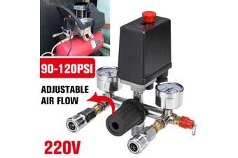 Adjustable Air Compressor Pressure Switch Control Valve Regulator Gauges