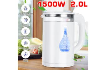 2L 1500W Glass Electric Tea Kettle, Water Kettle for Fast Boiling, Hot Water Boiler Pot with Auto Shut off and Boil-Dry Protection(800W 2L)