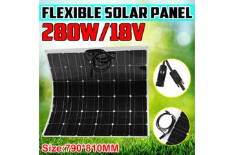 280W 18V Monocrystalline Highly Flexible Solar Panel Tile Mono Panel Waterproof For Car Home Camping Outdoor