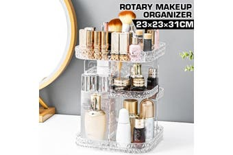 New Large Cosmetic Drawer Storage Box Dressing Table Makeup Organizer Lipstick Rack Rotating Acrylic Transparent Plastic Shelf(Type B)