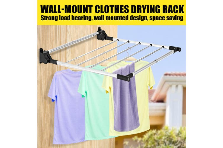 Stainless Steel Clothes Drying Rack Wall Mounted Airer Towel Laundry Hanger
