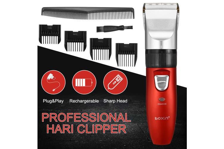 Men's Vintage Professional Electric Rechargable Hair Clipper Haircut Trimmer(Limit Comb Set)
