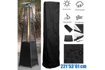 220cm Waterproof Pyramid Flame Patio Gas Heater Cover Garden Outdoor Protector