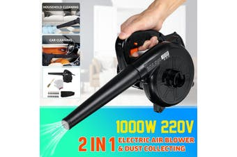1000W Upgrade Electric Air Blower Handheld Blowing & Dust Collecting Mechine AU