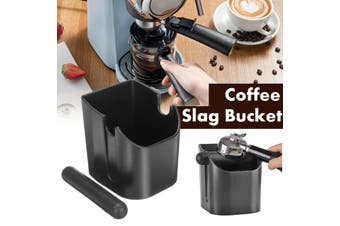 Coffee Knock Box Espresso Grinds Tamper Waste Bin Storage Container Bucket Container