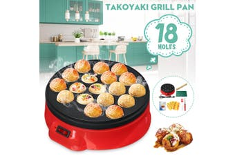 650W 18Hole Takoyaki Grill Pan Electric DIY Home Octopus Meat Ball Maker Plate