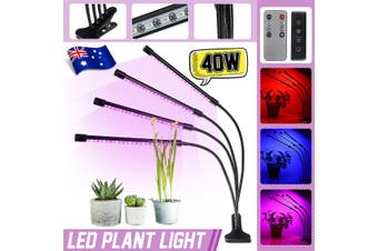 AU 4Head LED Grow Light Hydroponic Full Spectrum Indoor Flower Plant Lamp Panel