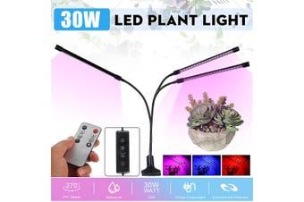 3 Head LED 30W Full Spectrum Grow Light Pot Plant Flower Veg Light Growing Lamp