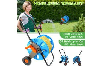 Garden Hose Reel Holder Trolley Cart Water Pipe Organizer Watering Garden Tool