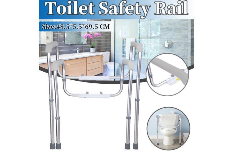 Toilet Safety Rails Adjustable Toilet Seat Frame Anti-slip Shower Grab Bar Handrail for for Elders Pregnant Bathroom Accessories