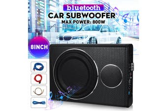 """8"""" Car Subwoofer Under-Seat Sub Woofer 600W Speaker Stereo Slim Amplifier Black"""
