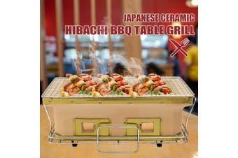 Japanese Ceramic Clay Hibachi Charcoal Barbecue BBQ Table Grill Camping Picnic