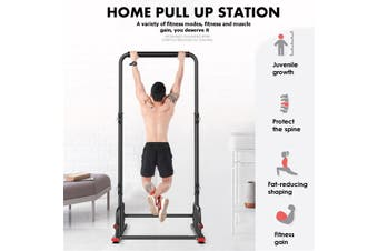 Pull Up Power Station Workout Upper Body Fitness Strength Training Home Gym