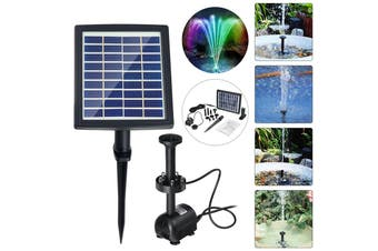 220L/H Ground Solar Fountain Water Pump Waterproof LED Submersible Light Solar Panel For Garden Outdoor Bath Fish Tank Pool Pond Decoration