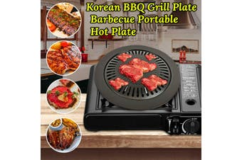 Portable Korean BBQ Grill Plate for Outdoor Camping Picnics