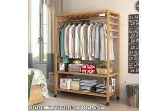 3 Sizes Wooden Garment Clothes Rack Rail Shoe Rack Shelf for Hallway Bedroom Living room Balcony Office Shop Scarf Hat Coat Jack Hanging(168x42x100cm)