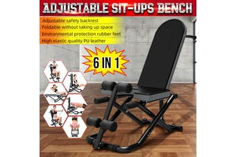 6 IN 1 Adjustable Sit-ups Bench Fitness Abdominal Workout Weight Strength Home Training