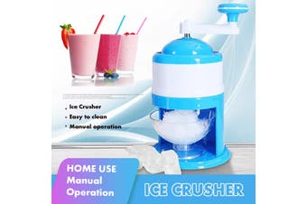 Mini Manual Ice Crusher DIY Snow Cone Shaver Ice Kachang Maker + Smoothie Cup