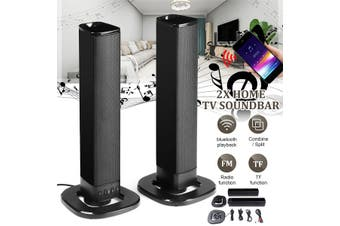 2PCS/SET Home TV bluetooth Sound Bar Stereo Speakers Detachable Soundbar Wireless (Type1 2IN1 Detachable)