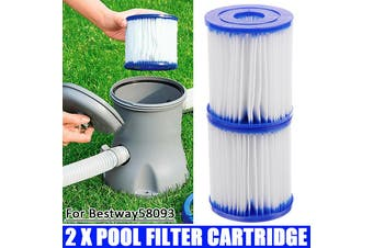 【2/4/6/8pcs】(For BESTWAY)Pool Filter Cartridge SIZE I Swimming Pool Filter Pump Replacement Filter Pool Cleaner For Bestway Swimming Pool Pump(Pack of 2)