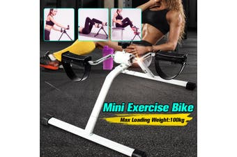 Mini Bike Pedal Exerciser Portable Gym Bike Home Fitness Exercise Cycle Leg Arm Bicycle