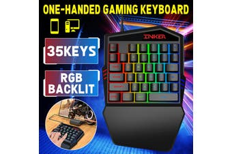 One-Handed 39 Keys Game Keyboard + Mouse For PC Gaming PUBG LOL Dota Laptop(Wired One-handed keyboard)
