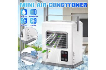 New Desktop Air Conditioner Humidifier Purifier LED Display Screen Mini Mute Conditioner Portable Air Conditioner Cooling Fan for Home Office Room(air conditioner with led display)