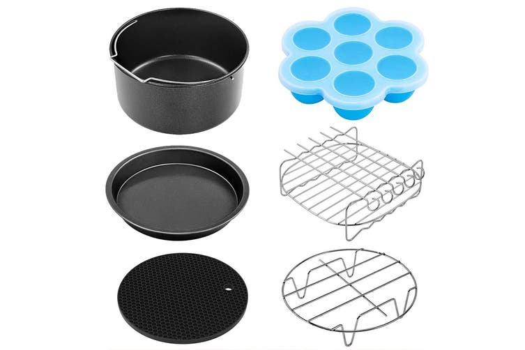 11pcs 6in Air Fryer Accessories Cooking Baking Set Dish Pan Rack For 3.2-6.8QT