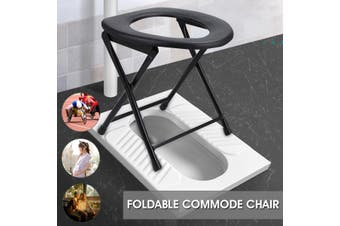 Foldable Bedside Commode Potty Chair Elderly Pregnant Women Disability