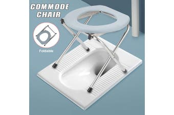 Foldable Bedside Commode Chair Potty Iron For Elderly Pregnant Women(Carrying Weight 1kg)