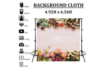 4.92x6.56ft Romantic Flower Rose Wall Backdrop Photography Background Cloth