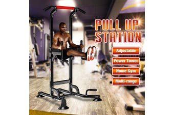 4 in 1 Heavy Duty Power Tower Station Durable Body Pull Up Bar For Home Fitness