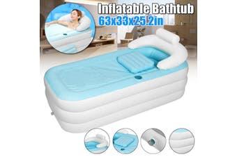 63x33x25cm 3-Layer Folding Inflatable Bathtub for Adult Child PVC Portable Bath Tub(160cm by 84cm by 64cm)