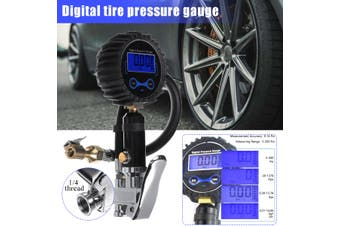 Car Tyre LCD Digital Display Inflation Meter Compressor Pressure Hose Gauge
