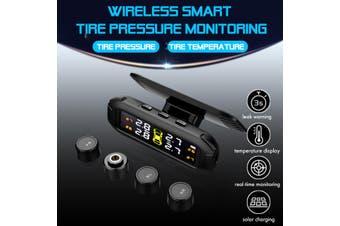?4 Sensors TPMS Solar Wireless Car Tire Tyre Pressure Monitoring System External