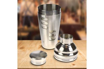 Dial-a-Drink Stainless Steel Revolving Cocktail Recipe Shaker 750ml